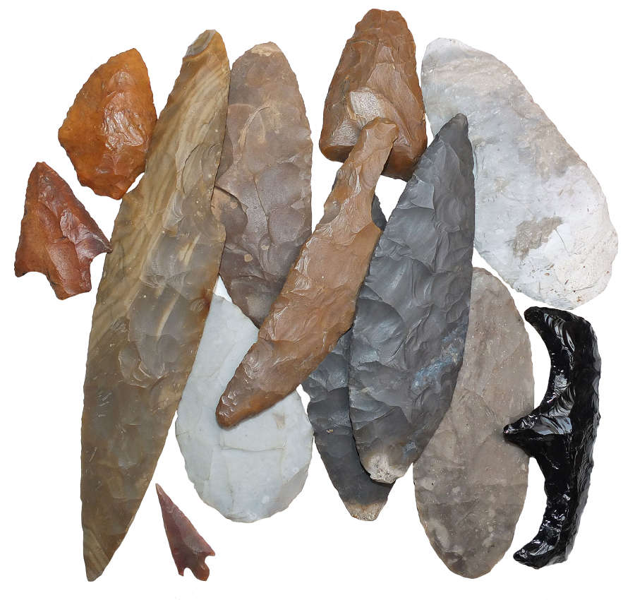 View all flint implements and stone tools