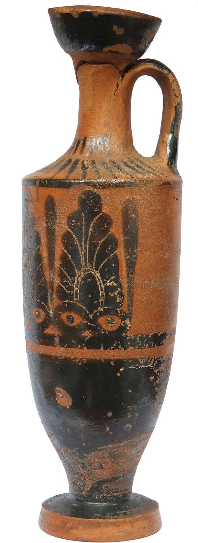 A Greek Attic Black-Figure lekythos, c. 500-450 B.C