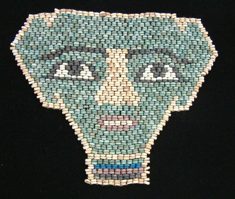 An attractive Egyptian bead mummy mask, c. 600-300 B.C.