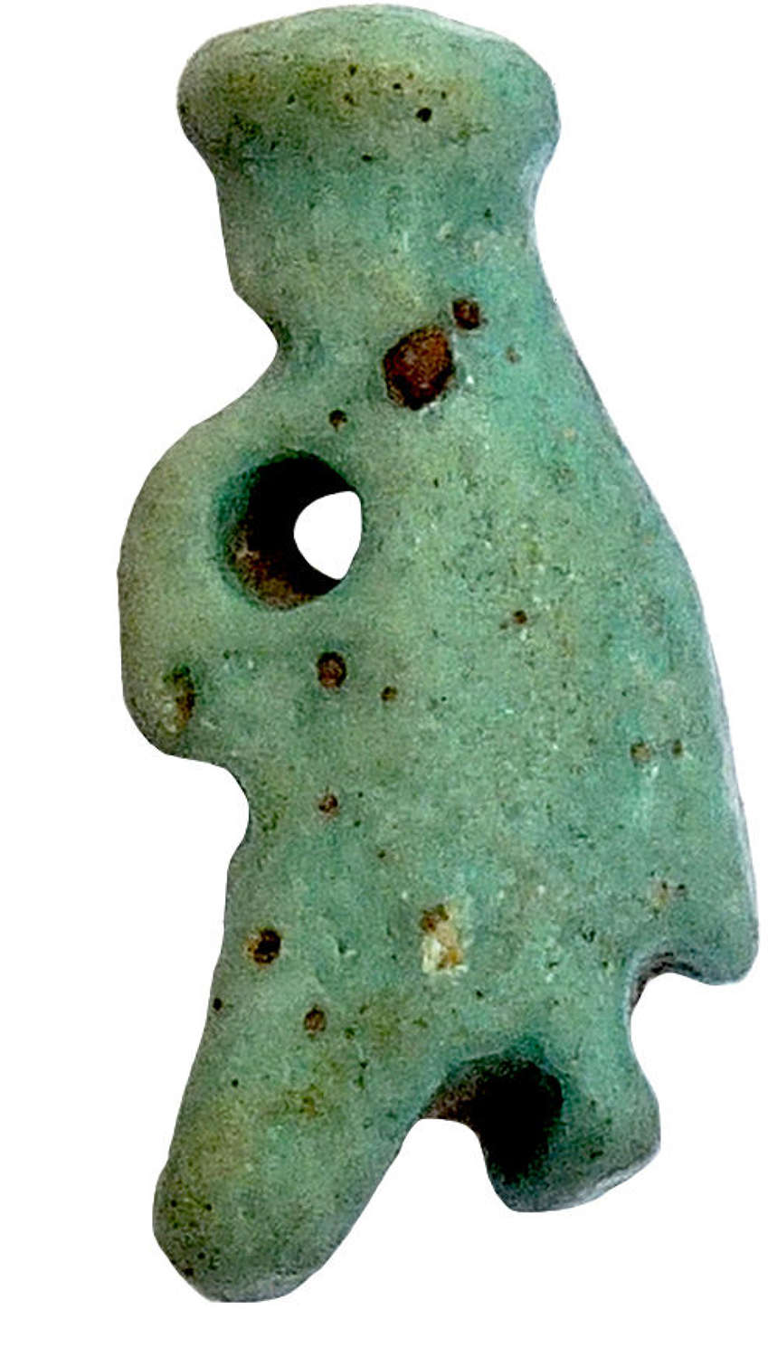 An Egyptian faience amulet of Hedjet, c. 600-300 B.C.
