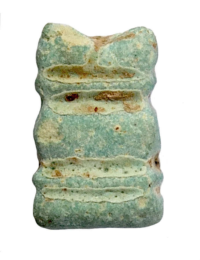 A small Egyptian faience altar amulet, c. 600 B.C. - 395 A.D.