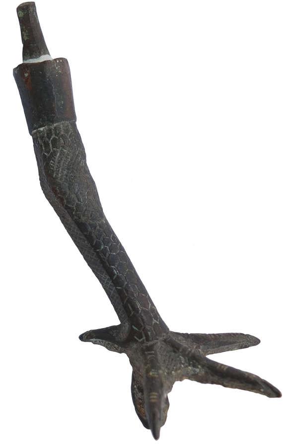 A bronze ibis leg, Egypt, Late Period, c. 664-30 B.C.