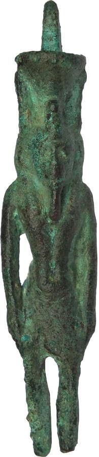 An Egyptian bronze figure of Nefertum, Late Period, c. 600 B.C.