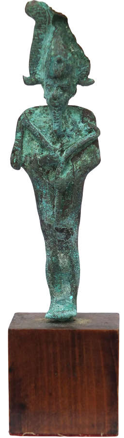 An Egyptian bronze figure of Osiris, Late Period, 1st Millennium B.C.
