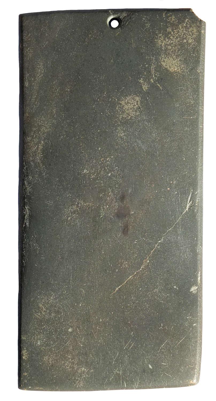 A good-sized Egyptian Predynastic green schist palette, c. 3200 B.C.