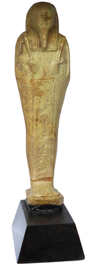 A good-sized Egyptian faience ushabti for the General TchaiHor(pa)ta