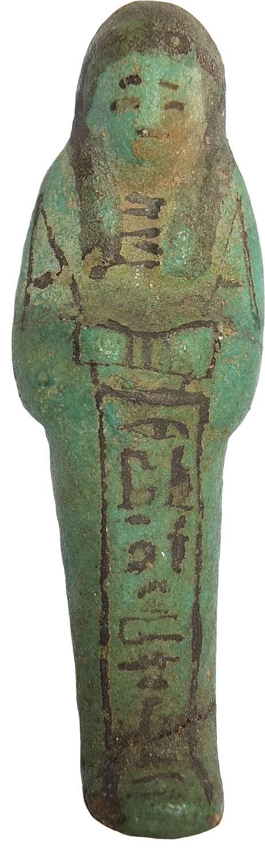 An Egyptian faience worker ushabti to Imset, c. 1186-715 B.C.