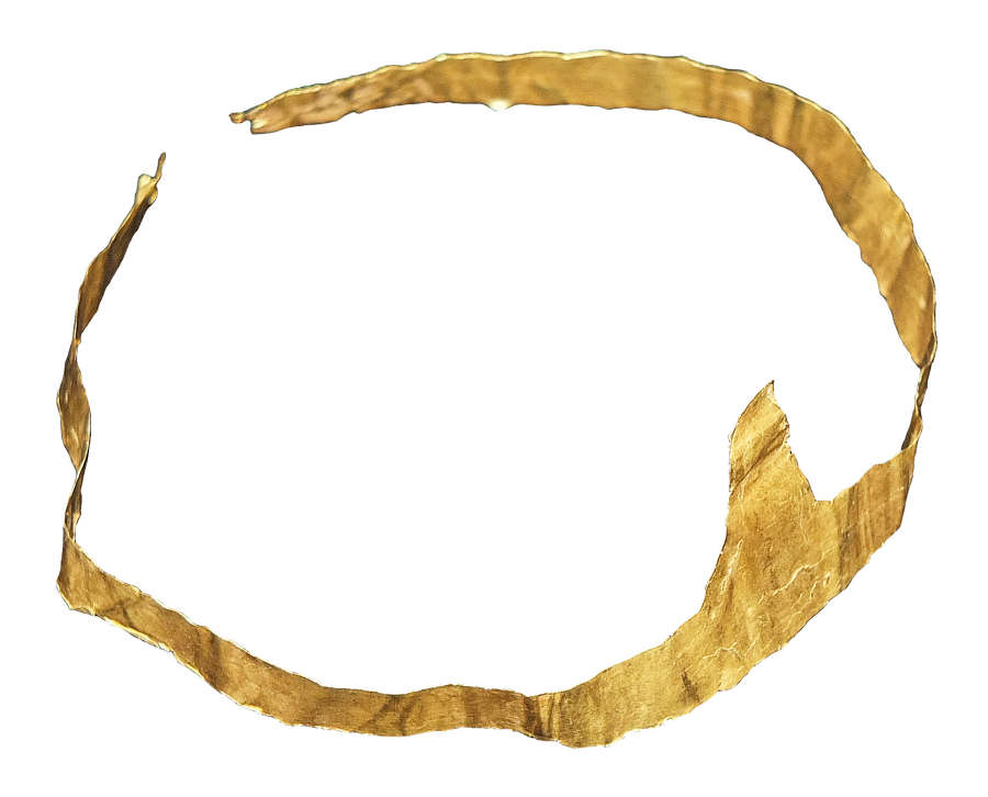 A Hellenistic sheet gold diadem, c. 4th Century B.C.