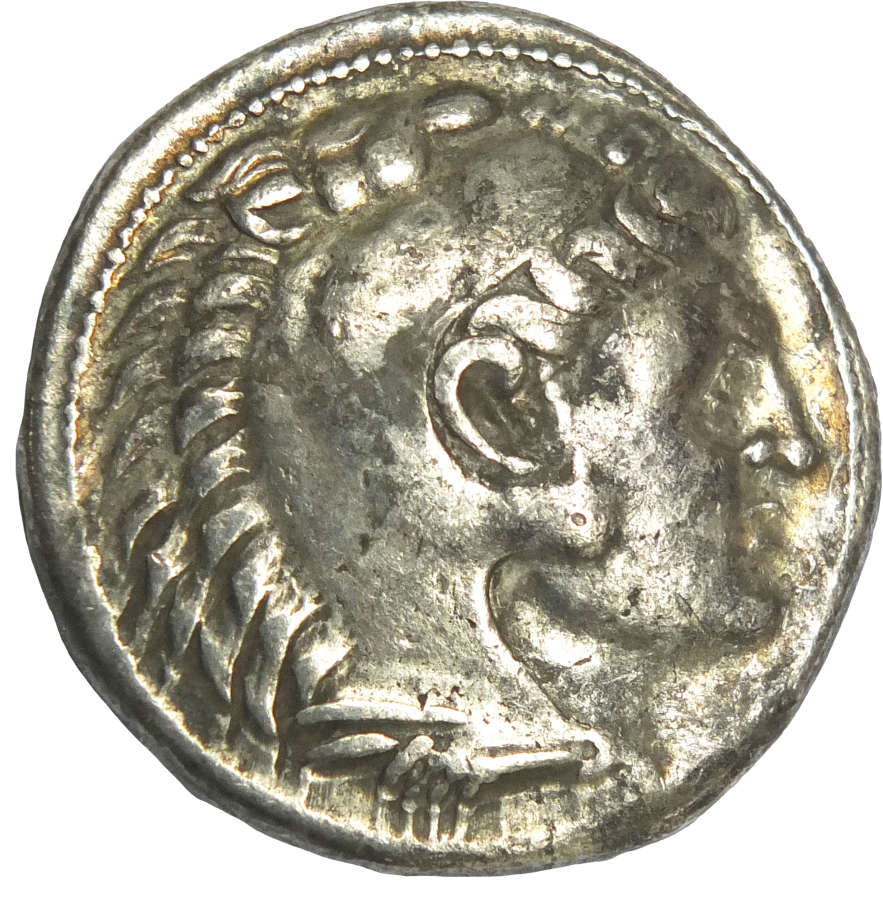 A silver tetradrachm of Alexander the Great (356-323 B.C.)