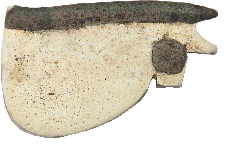 A large Egyptian faience Udjat Eye amulet, 1st Millennium B.C.