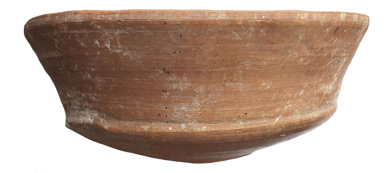 A Holyland Roman period terracotta bowl, c. 2nd Century A.D.