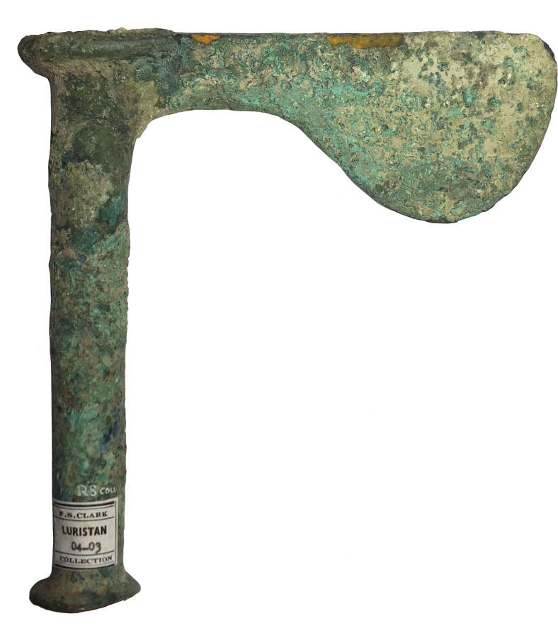 A Luristan bronze shaft-hole axehead, c. 2nd-3rd Millennium B.C.