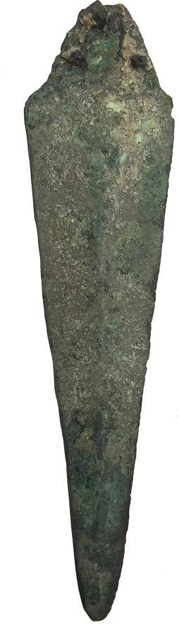 A Near Eastern bronze dagger blade, c. 2200–1800 B.C.