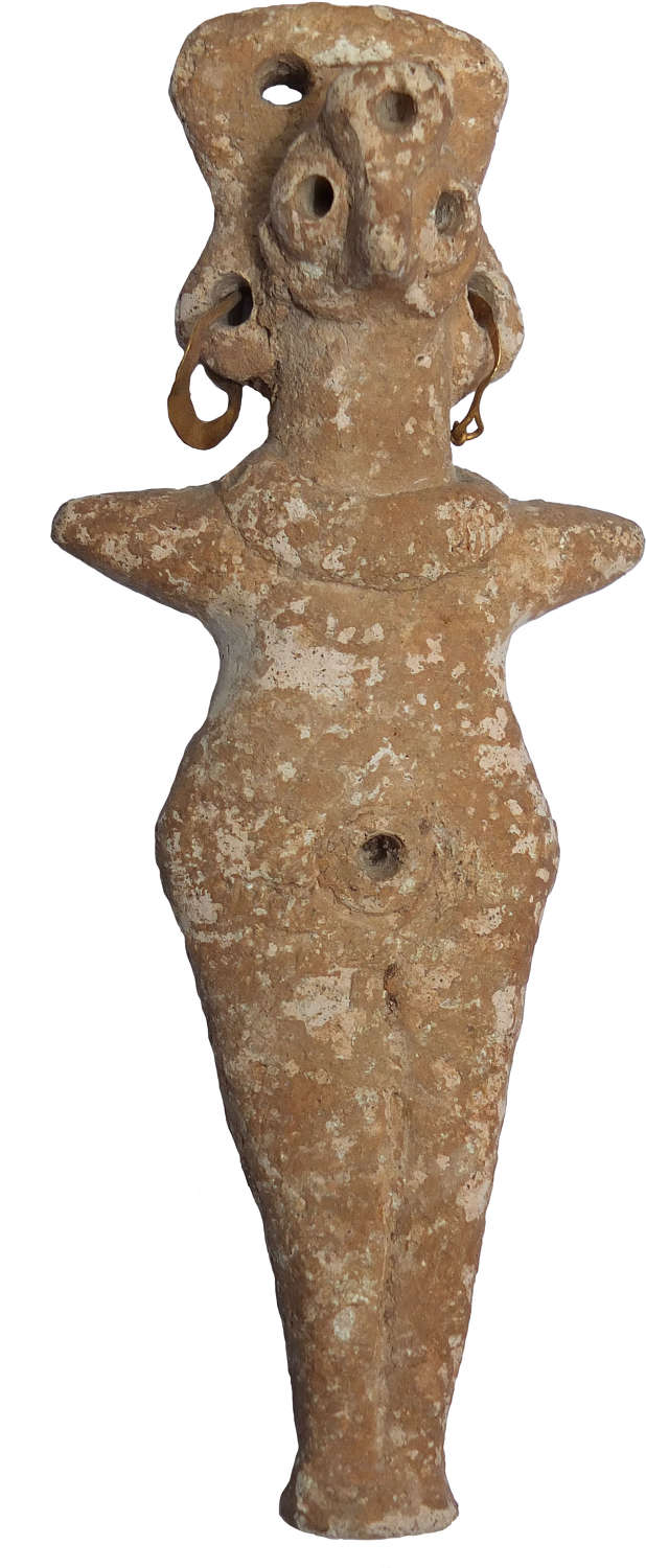 A Syrian Middle Bronze Age terracotta figure, northern Syria
