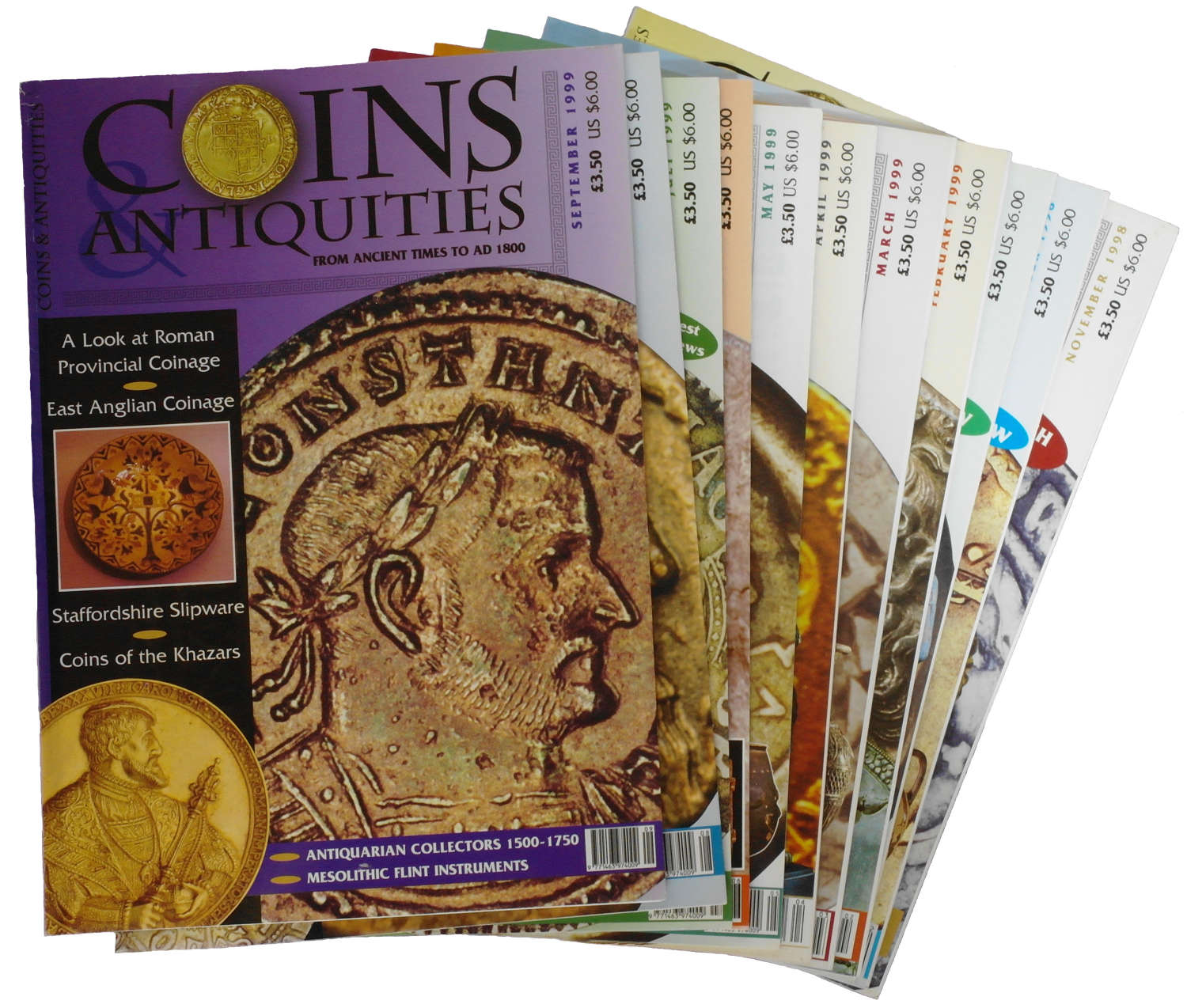 A rare complete set of 'Coins and Antiquities' magazine