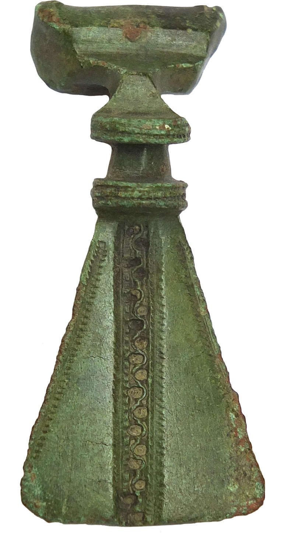 A Romano-British bronze brooch, fantail type, c. 1st-2nd Century A.D