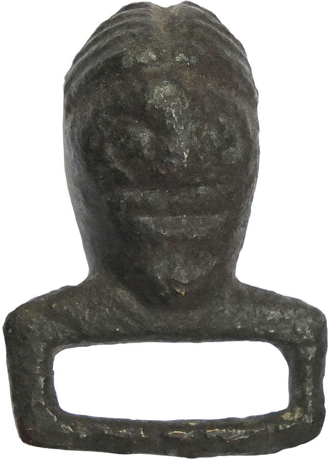 A Celtic bronze fitting perhaps from a harness, c.1st-2nd Century A.D.