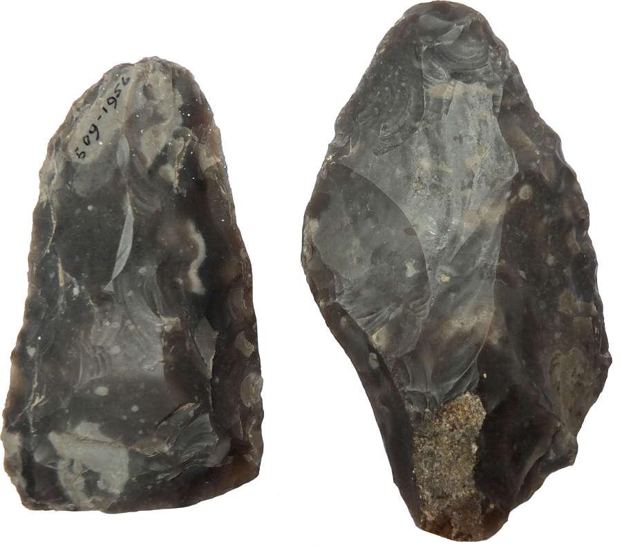 Flint replica tools attributed to 'Flint Jack'
