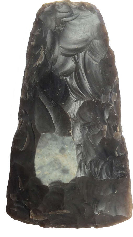 A flint replica of a Neolithic axe attributed to 'Flint Jack'