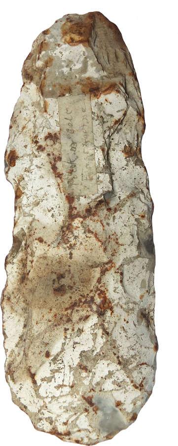 A Neolithic flint celt found at Eastbourne, East Sussex, c. 3000 B.C.