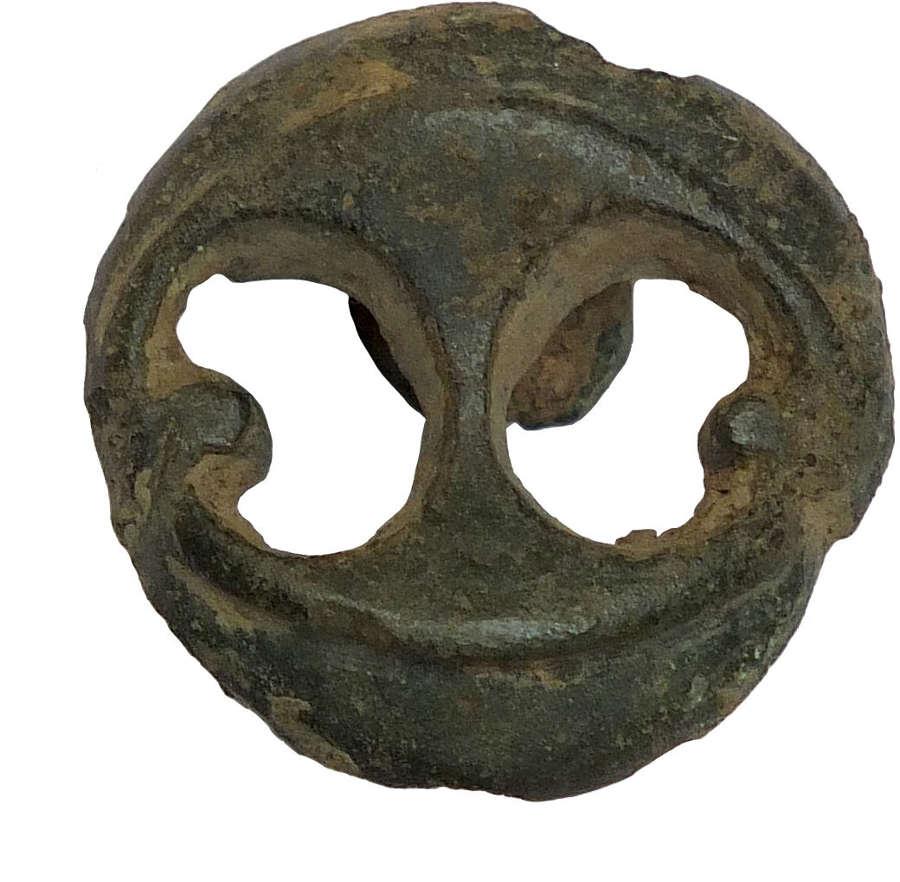 An openwork Celtic bronze mount, c. mid 1st Century A.D.