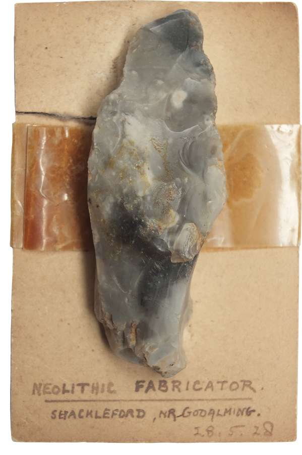 A Neolithic flint fabricator found in Surrey in 1928