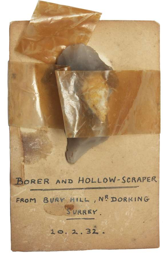 A Neolithic flint borer found in Surrey in 1932