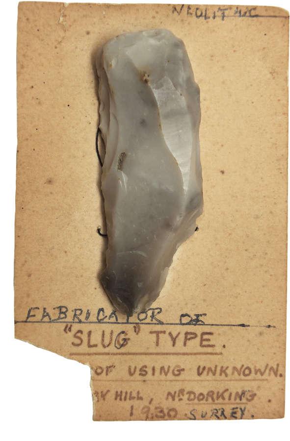 A Neolithic flint fabricator found near Dorking, Surrey, in 1930