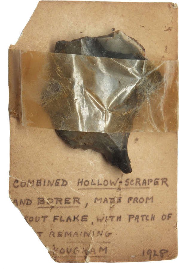 A Neolithic flint borer found near Folkestone, Kent, in 1928