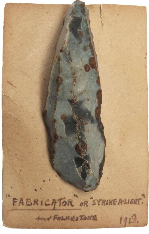 A Neolithic flint fabricator found near Folkestone, Kent, in 1928