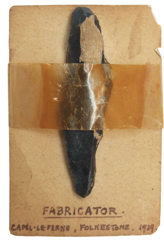 A Neolithic flint fabricator found near Folkestone, Kent, in 1929
