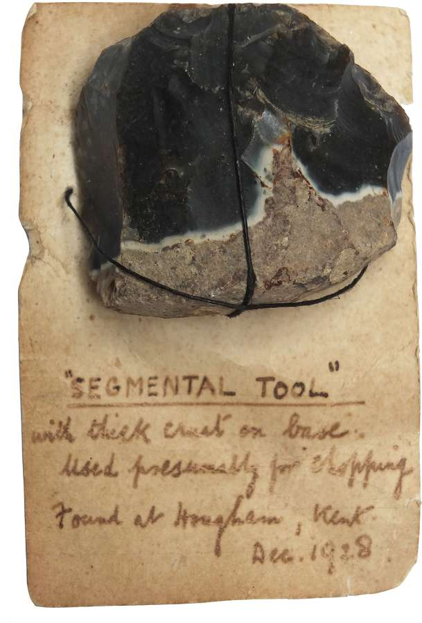 A Neolithic flint 'segmental tool' found in Kent in 1928