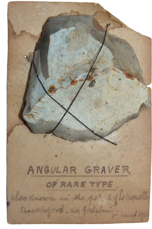 A Neolithic flint scraper found near Godalming, Surrey, in 1928