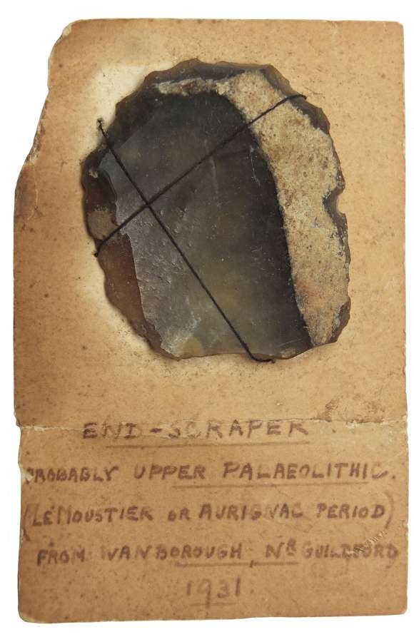 A Neolithic flint endscraper found near Guildford, Surrey, in 1931