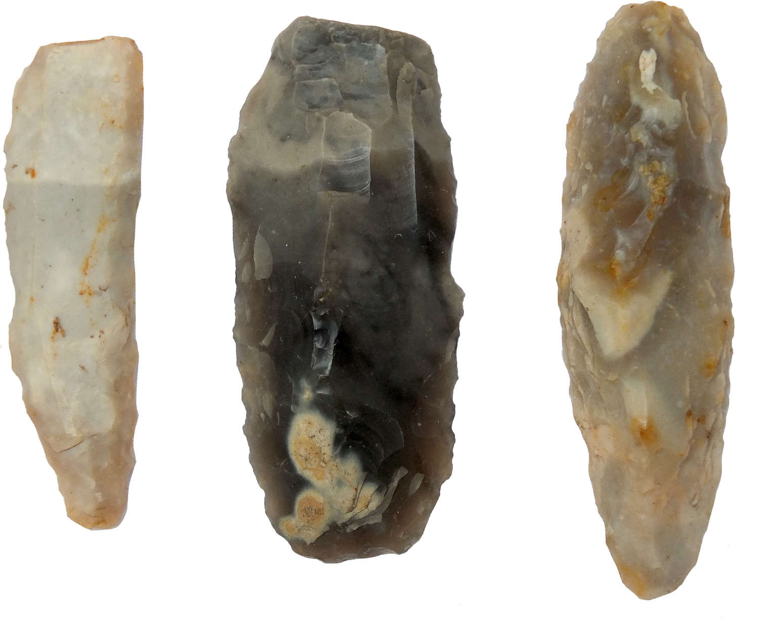 A group of three Neolithic to Middle Bronze Age flint knives