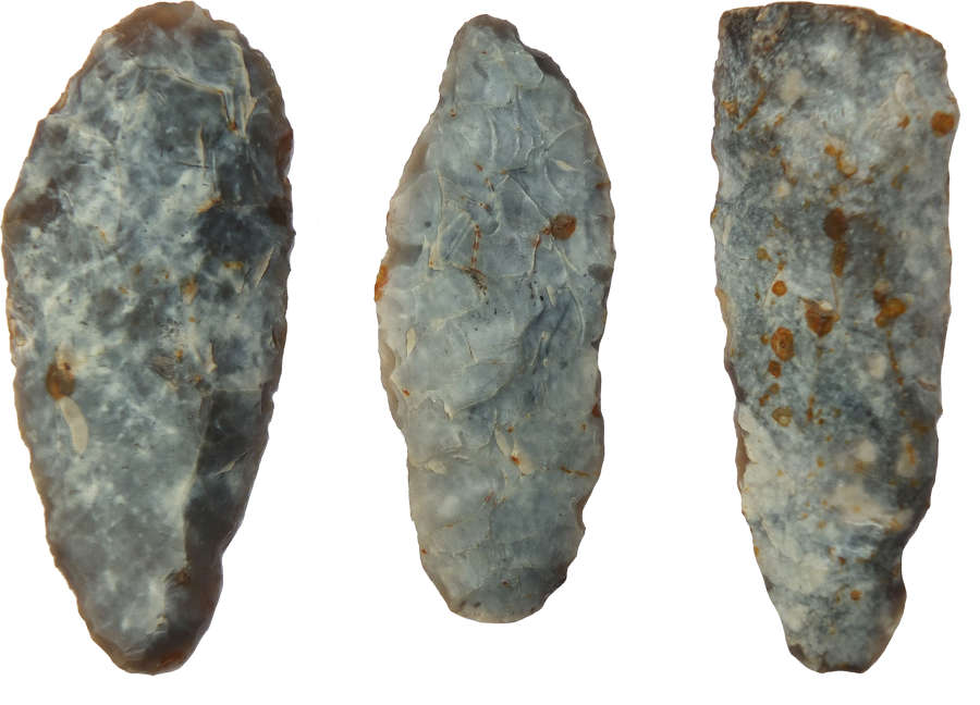 Three Neolithic to Middle Bronze Age flint slug knives