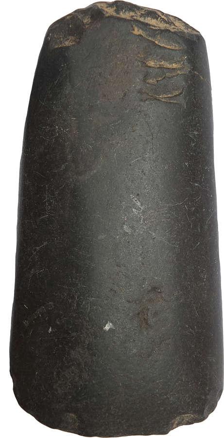 A Melanesian polished basalt adzehead, c. 19th Century A.D.