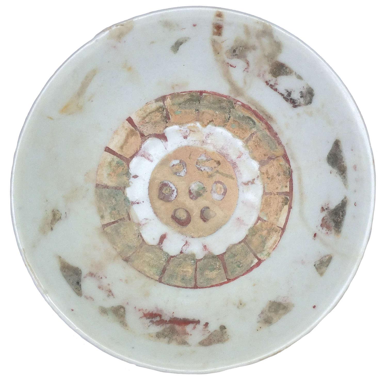A Chinese Tek Sing shipwreck Swatow 'lotus' dish, c. 1822 A.D.