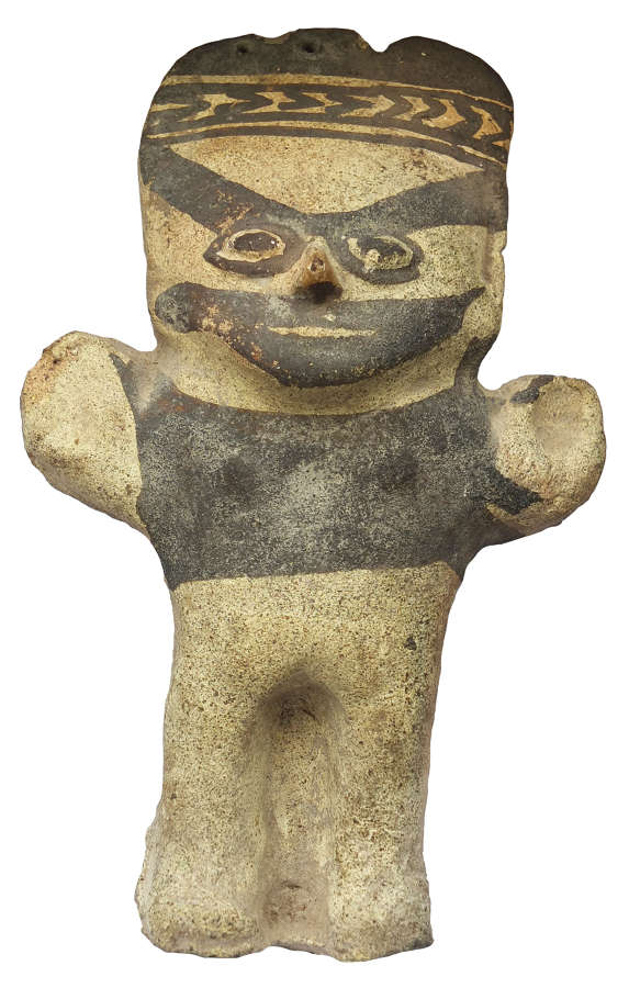 A Chancay standing pottery figure, Peru, c. 1300 A.D.