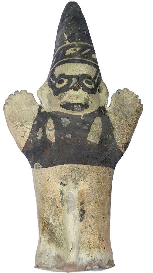 A Chancay standing pottery female figure, Peru, c. 1300 A.D.