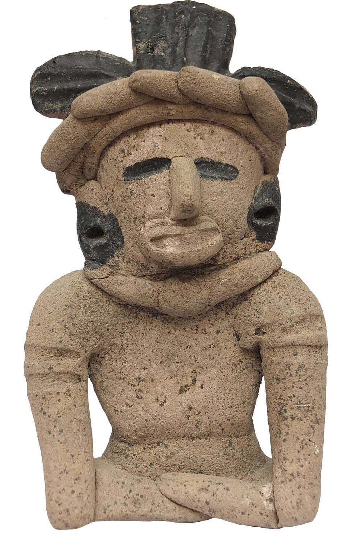 A Mexican Vera Cruz terracotta seated figure, c. 400-600 A.D.