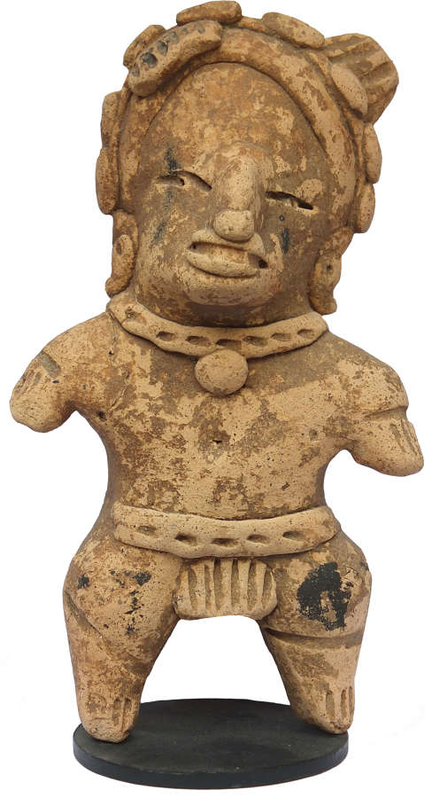 A Mexican Vera Cruz terracotta warrior figure, c. 400-600 A.D.