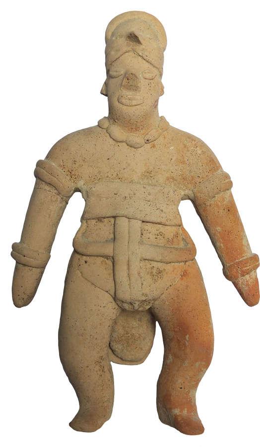 A Colima terracotta figure, west Mexico, c. 300 B.C.-300 A.D.