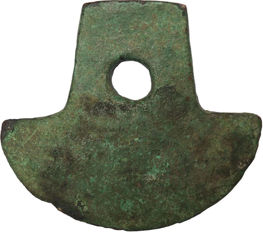 A Precolumbian bronze axehead from Ecuador, c. 12th-15th Century A.D.