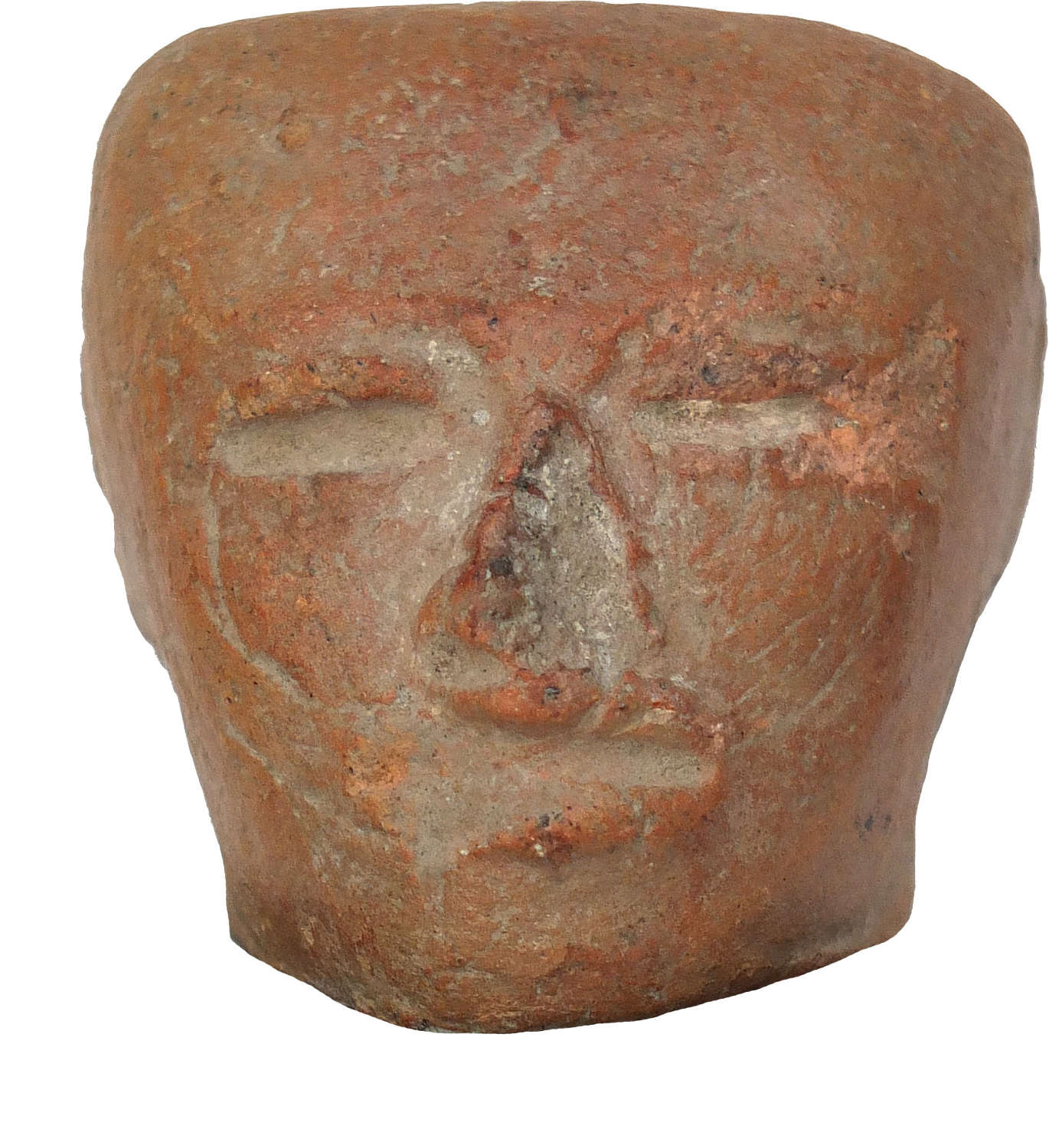 A Teotihuacan terracotta head, central Mexico