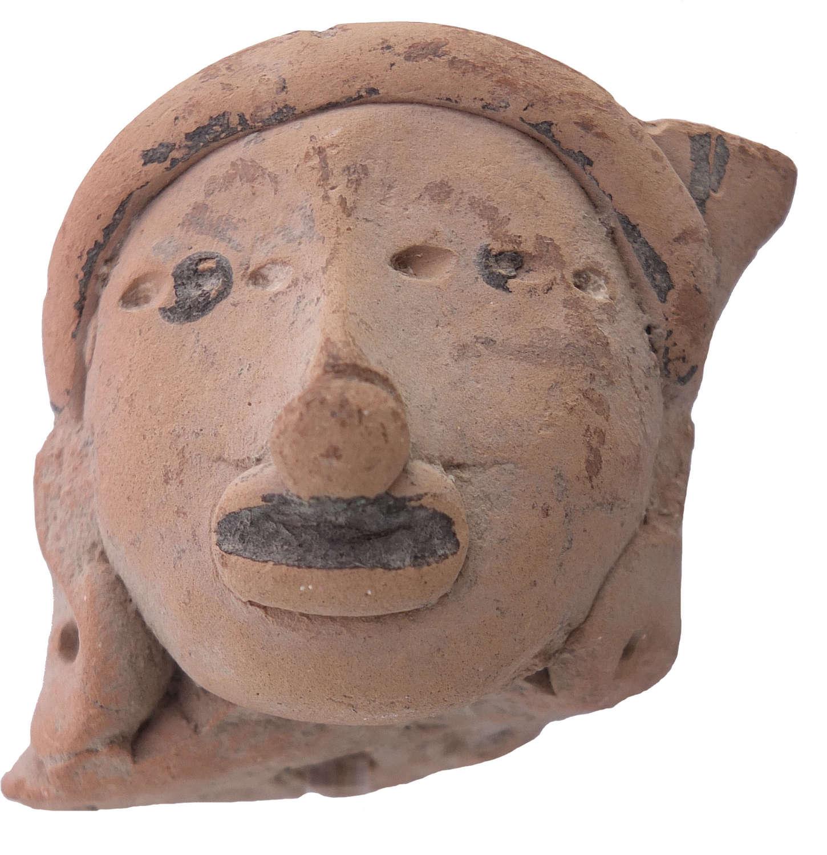 A Remojadas terracotta head, Veracruz, Mexico, c. 300-800 A.D.