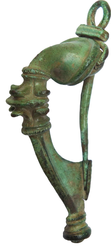 A fine Roman bronze trumpet brooch, c. 1st-2nd Century A.D.