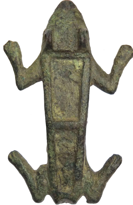 A Roman bronze frog brooch, c. 2nd – 3rd Century A.D.