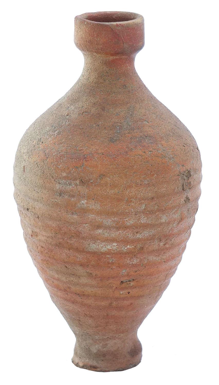A Roman bottle in orange coarse ware, c. 3rd-4th Century A.D.