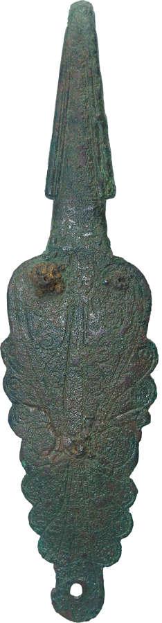 An Italic bronze belt hook, c. 4th Century B.C.